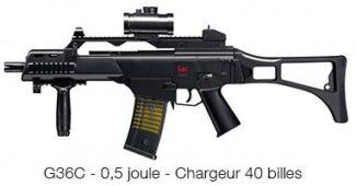G36 C Réplique de mitraillette à billes