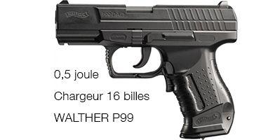 Pistolet à billes Walther P99 0.5 JOULE Electrique Umarex