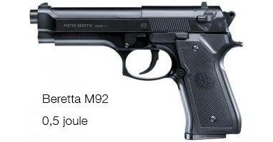 Réplique du Beretta M92 FS - 0,5 Joules