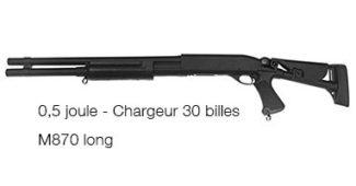 Réplique du fusil à pompe M870 Long
